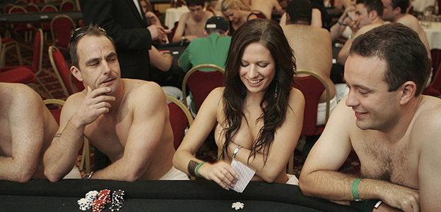 LONDON - AUGUST 19: Contestants take part in the World Strip Poker Championships on August 19, 2006 in London. 195 contestants took part in the first championship for a prize of GBP10,000. (Photo by Peter Macdiarmid/Getty Images)