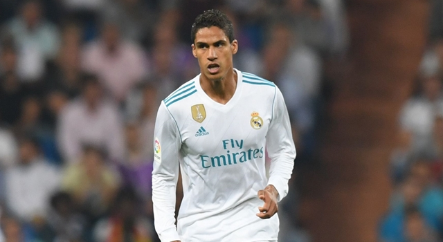 Real Madrid's defender from France Raphael Varane controls the ball during the Spanish league football match Real Madrid CF against Real Betis at the Santiago Bernabeu stadium in Madrid on September 20, 2017. / AFP PHOTO / GABRIEL BOUYS