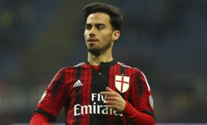 MILAN, ITALY - JANUARY 27:  Suso of AC Milan looks on during the TIM Cup match between AC Milan and SS Lazio at Stadio Giuseppe Meazza on January 27, 2015 in Milan, Italy.  (Photo by Marco Luzzani/Getty Images)