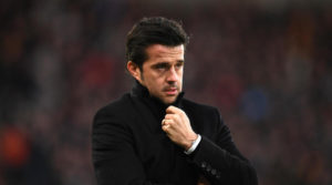 HULL, ENGLAND - FEBRUARY 04: Marco Silva, Manager of Hull City looks on during the Premier League match between Hull City and Liverpool at KCOM Stadium on February 4, 2017 in Hull, England.  (Photo by Gareth Copley/Getty Images)